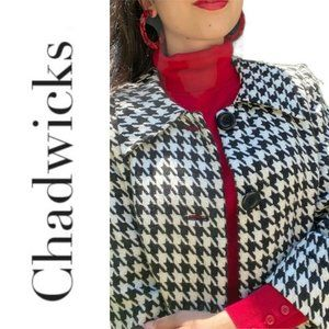 Vintage Chadwicks Checkerboard Houndstooth Peacoat